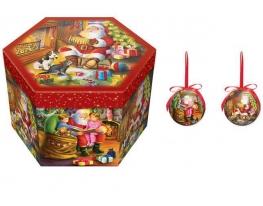 Набор новогодних шаров Рождественский Вечер 14шт фото