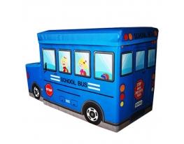 Пуф-ящик для игрушек Автобус фото