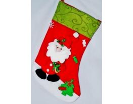 Новогодний носок Игрушечный Дед Мороз фото