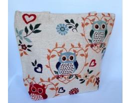 Летняя текстильная сумка для пляжа и прогулок Совы в саду фото
