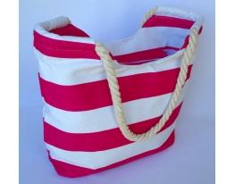 Летняя текстильная сумка для пляжа и прогулок в морском стиле фото 1