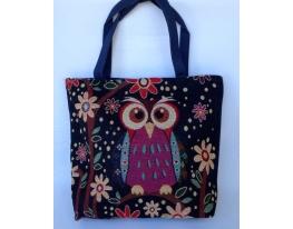 Летняя текстильная сумка для пляжа и прогулок Сова на ветке фото