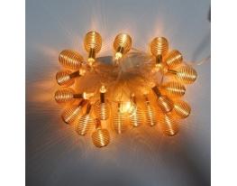 Гирлянда Пружина Золото LED 20 фото