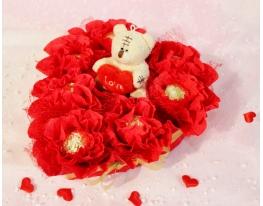 Конфеты Влюбленное сердце с мишкой фото