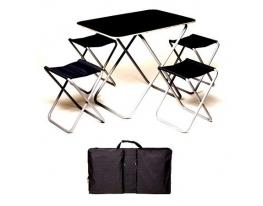 Комплект стол+4 стула Пикник в чехле фото