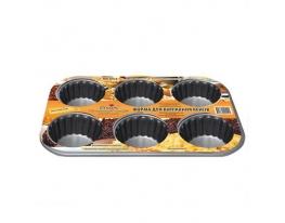 Форма для выпекания кексов 6шт/лист Стандарт фото