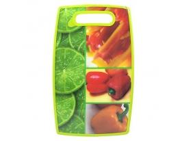 Доска разделочная пластик Овощи фото