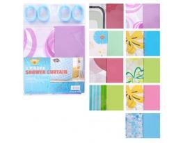 Шторы в ванную 2 шт/наб полиэтилен с разными цветами фото