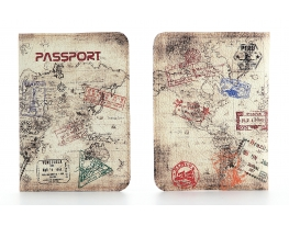 Кожаная обложка на паспорт путешественника фото