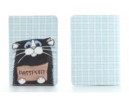 Кожаная обложка на паспорт Котенок фото