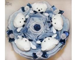 Букет плюшевые Мишки Синева фото