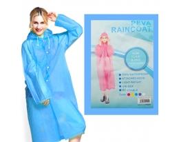 Плащ-дождевик на кнопках ПВХ голубой фото