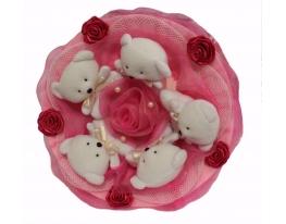 Букет из мишек Малинка фото