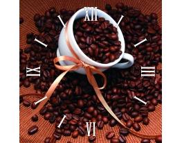 Часы квадратные Зерна Кофе фото