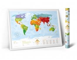 """Скретч карта мира """"Travel Map Kids Animals"""" фото"""