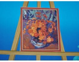 Картина на холсте по номерам Хризантемы фото