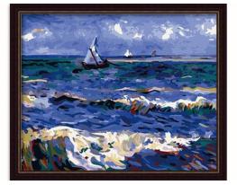 Картина на холсте по номерам Морской Парусник фото