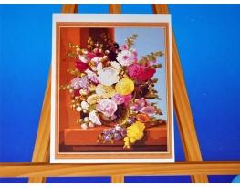 Картина на холсте по номерам Пионы фото