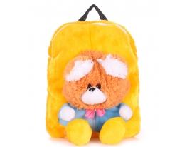 Рюкзак с медвежонком желтый Рoolparty фото