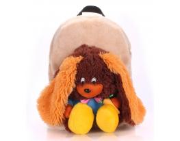 Рюкзак с зайцем коричневым Рoolparty фото