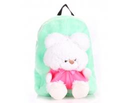 Рюкзак с медвежонком зеленый Рoolparty фото