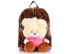 Рюкзак тигровый с медведем Рoolparty фото