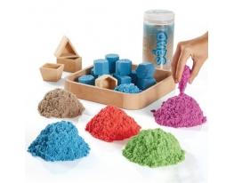Кинетический песок + формочки Контейнер фото