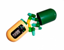 Контейнер для таблеток с таймером НАПОМИНАТЕЛЬ фото