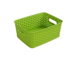 Пластиковая корзина для хранения вещей и мелочей Салатовая фото