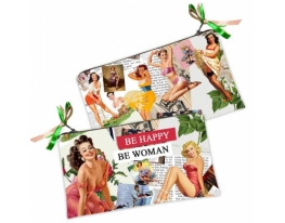 Косметичка-кошелек Be happy- Be woman фото