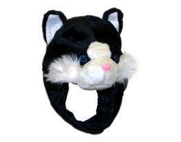 Шапка с ушками Черный кот фото