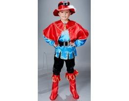 Детский карнавальный костюм Кот в сапогах фото