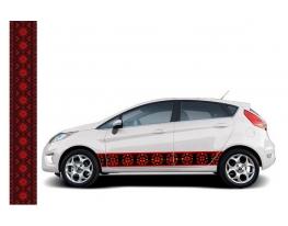 Наклейка Автовышиванка Классическая черная фото