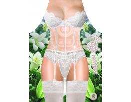 Фартук женский Белое кружевное белье фото