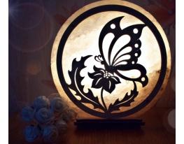 Соляная лампа Бабочка фото