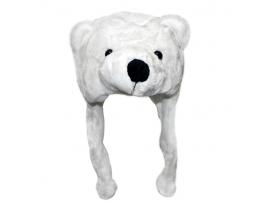 Шапка с ушками Белый медведь фото