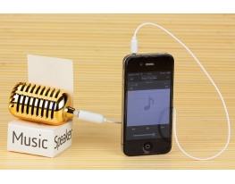 Микрофон к телефону Золотой фото