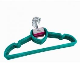 Комплект вешалок с велюровым покрытием сердце 10 шт. Зеленый фото