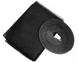 Москитная сетка на окна 150х130 см Чёрная фото