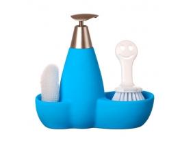купить Набор для мыла с губкой и щеткой Голубой