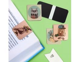 Набор магнитных закладок для книги Гламурные совы Mr. Bookmark фото