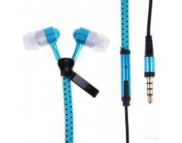 купить Наушники на молнии Zipper Earphones голубые
