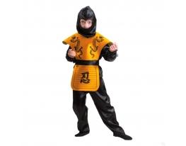 Карнавальный костюм Ниндзя желтый фото
