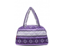 Дутая сумка Скандинавия фиолетовая Рoolparty фото