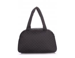 Дутая сумка саквояж черная Рoolparty фото