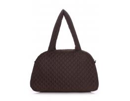 Дутая сумка саквояж коричневая Рoolparty фото