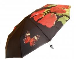 Зонт Антишторм автомат Букет роз и бабочка фото 1