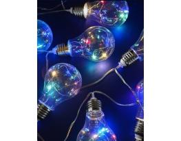 Светодиодная гирлянда Лампочки ретро Мультик фото