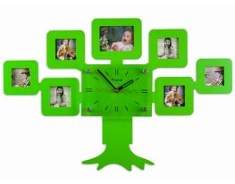 Часы настенные Родовое дерево Зеленые фото