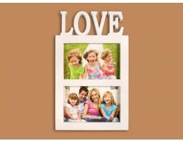 Фотоколлаж на 2 фото Любовь фото